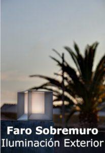 faro-sobremuro-iluminacion exterior