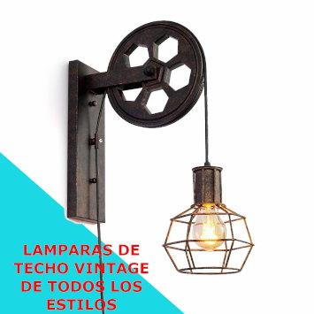 lamparas de techo vintage