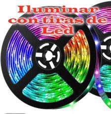Tiras de led multicolores para el hogar