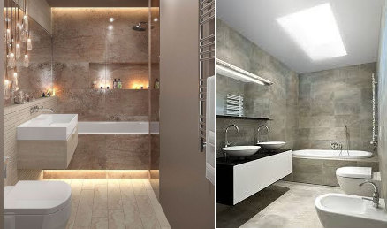 iluminación baño estilo minimalista