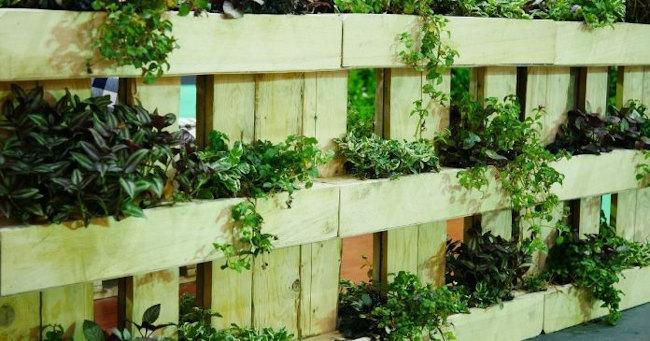 muebles de jardin hechos con palets