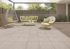 patio de color gris